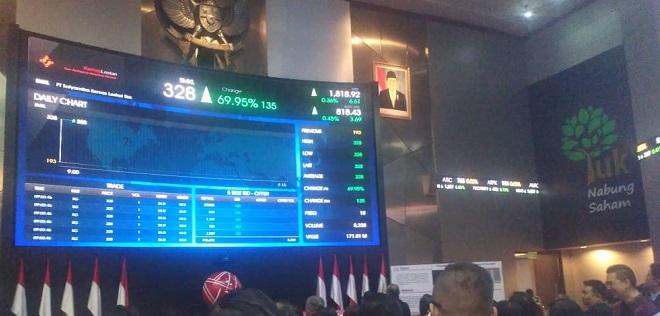 Kapitalisasi Pasar Bursa Naik 1,46 Persen Dibandingkan Pekan Lalu