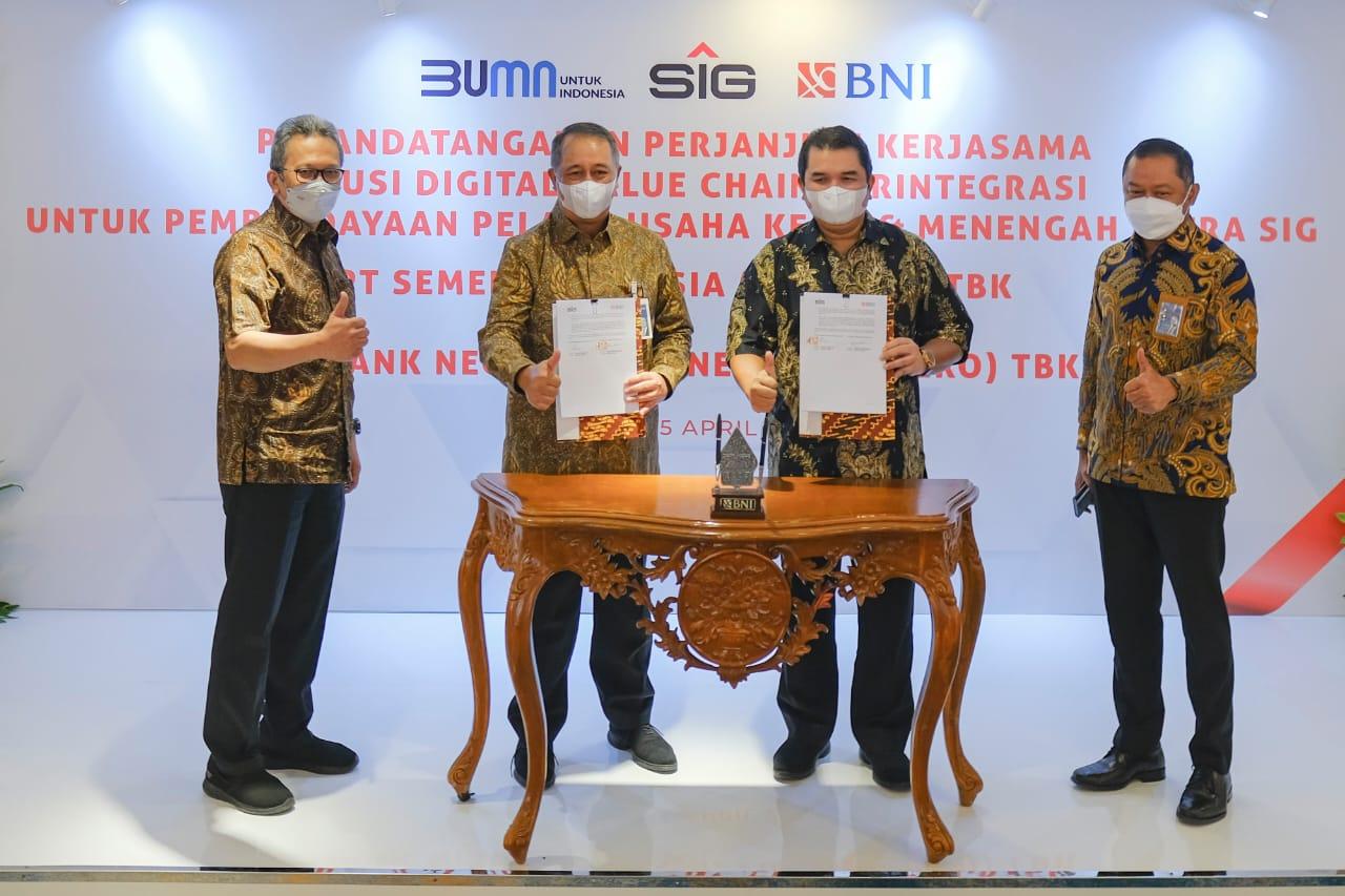 BBNI SMGR Gandeng BNI, Fasilitasi Solusi Digital Value Chain Mitra Semen Indonesia (SMGR)
