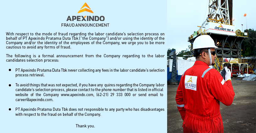APEX Apexindo Pratama Duta (APEX) Kantongi Lagi Kontrak Baru Dari Pertamina USD85,6 Juta