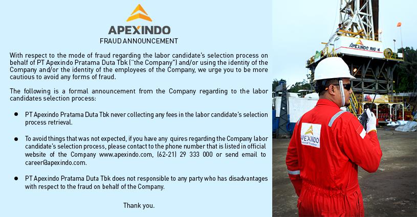 APEX Apexindo Pratama Duta (APEX) Menang Tender Dari Pertamina USD49,2 Juta