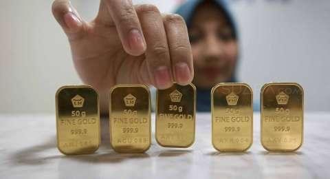 Harga Emas Antam Kamis ini Turun Rp1.000 Per Gram