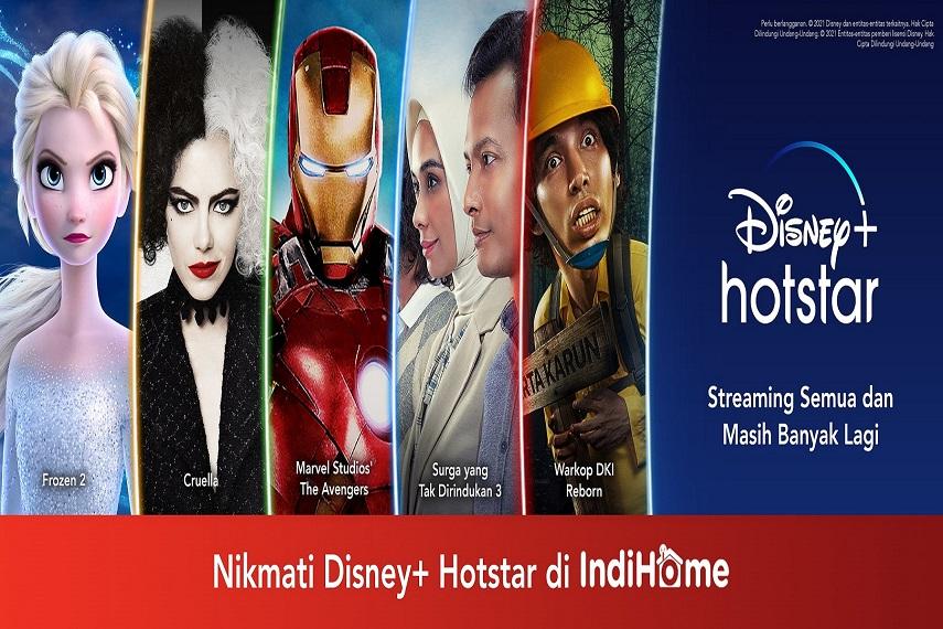 Kini Pelanggan IndiHome Bisa Nikmati Ratusan Film Disney+ Hotstar