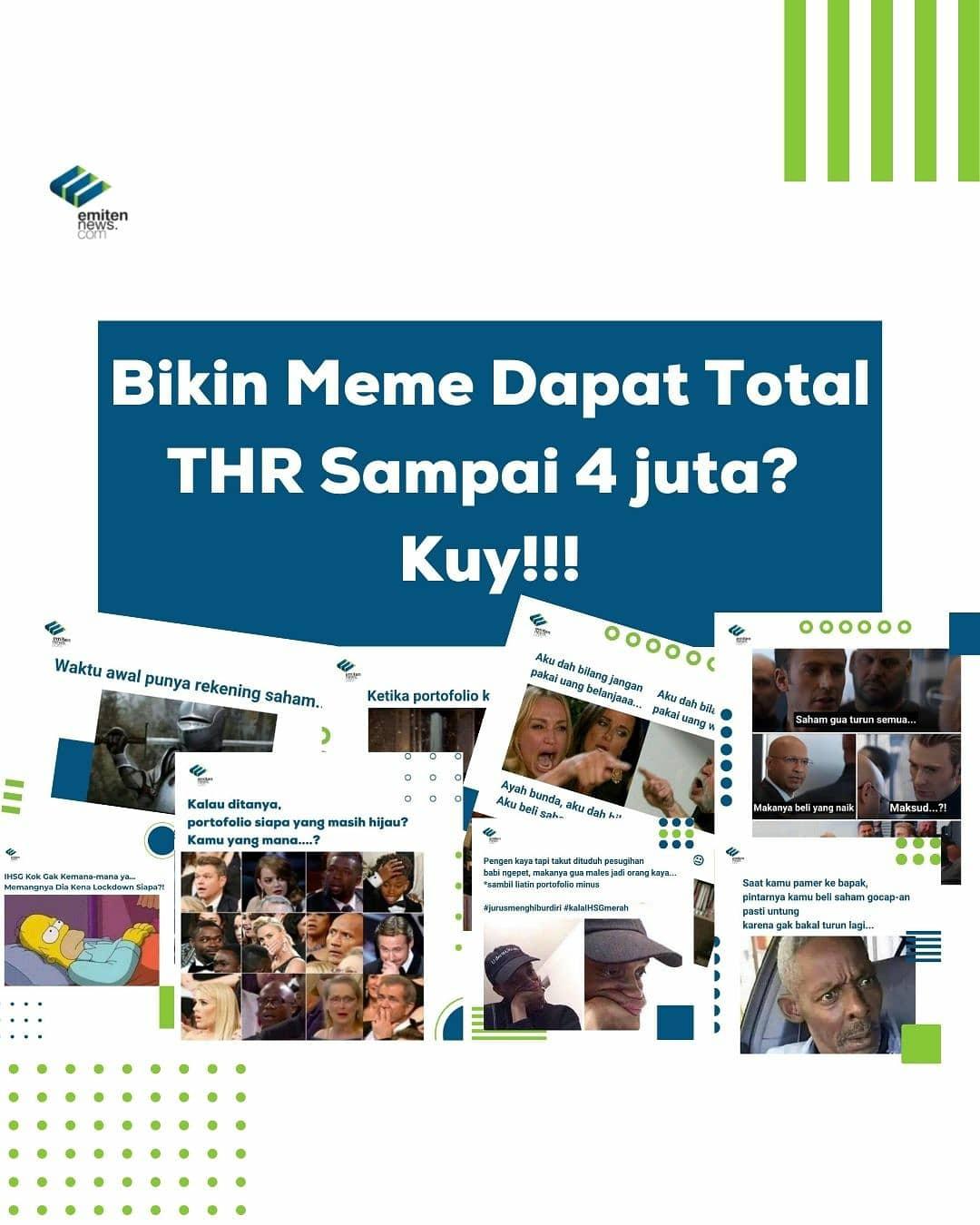 Yuk Uji Kreativitasmu Melalui Kontes Meme EmitenNews Tema